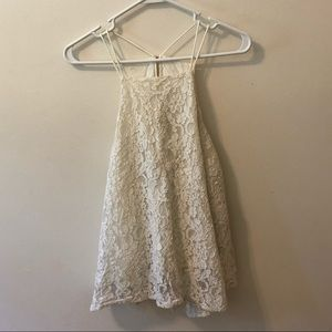 abercrombie & fitch lacey white tank